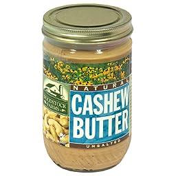 Woodstock Farms Cashew Butter, 16 Ounce -- 12 per case.