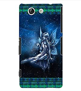 ColourCraft Angel Back Case Cover for SONY XPERIA Z4 COMPACT