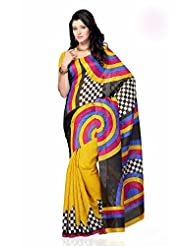 Shariyar Multi Color Art Silk Printed Saree PRG349
