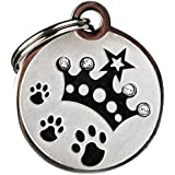 "GoTags Pet ID Designer Dogs & Cats Crown Pet Tags, 1"" X 1"""