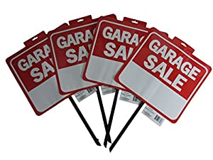 amazon com yard sale signs and stickers garage sale signs with stakes set of 4 with 420