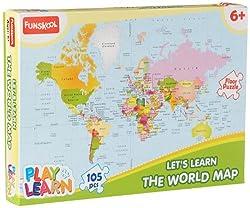 Funskool World Map Puzzles