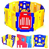 Baby Playpen Kids 8 Panel Safety Play Center Yard Home Indoor Outdoor Pen Playard