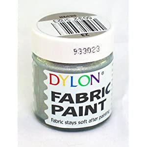 Dylon Fabric Paint 25ml Silver