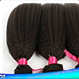 Junhair 5A Brazilian Virgin Human Hair Weft Kinky Straight 3pcs/lot 300gram Natural Colour