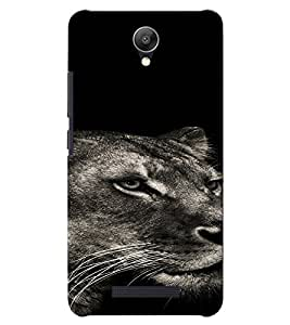 PrintVisa Animal Tiger Design 3D Hard Polycarbonate Designer Back Case Cover for Xiaomi Redmi Note 2