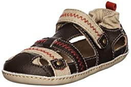 Robeez Mini Shoez My Lil Adventurer Pre-Walker (Infant/Toddler),Brown,3-6 Months (2 M US Infant)