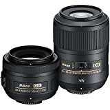Nikon Macro and Portrait Lens Kit with AF-S DX NIKKOR 35mm f/1.8G Fixed Zoom Lens with Auto-Focus and AF-S DX Micro NIKKOR 85mm f/3.5G ED VR Fixed Zoom Lens with Auto-Focus for Nikon DSLR Cameras