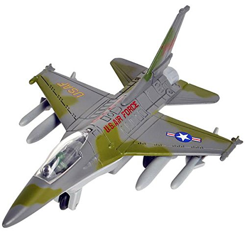6 Inch Die Cast F-16 Pull Back