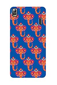 ZAPCASE PRINTED BACK COVER FOR LENOVO A7000 - Multicolor