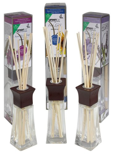 Greenair All Natural Reed Diffuser Set Of 3, Fresh Linen, Lavender And Sweet Pea, 6.6-Ounce front-994939