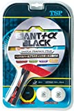 TSP 卓球 ラケット ジャイアント プラスアルファ ブラック (貼り上がり) ヘッドカバー&プラスチックボール 2個付き 025570