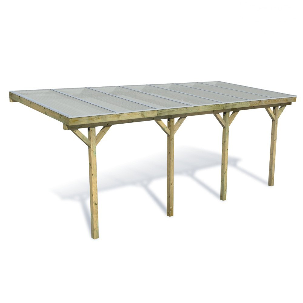 fatmoose carport terrassen berdachung anlehncarport casacomfort classic 700 inkl dach online. Black Bedroom Furniture Sets. Home Design Ideas