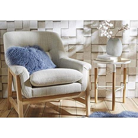 Fauteuil confort beige grisé nordique
