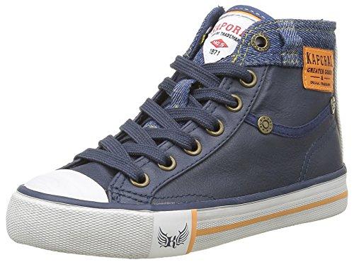 KaporalIcarnito - Sneaker Unisex - Bambini , Blu (Blu (Marine)), 35