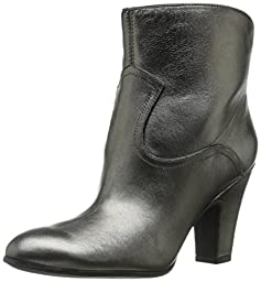 Nine West Women\'s Quarrel Metallic Boot, Pewter/Black, 7.5 M US