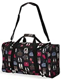 5Cities Worlds lightest only 05kg Cabin Size holdall fits Ryan AirEasy Jet 55 x 40 x 20 flight bag Actual dimension 54x30x20 Massive 32l Capacity Bags Shoes Black