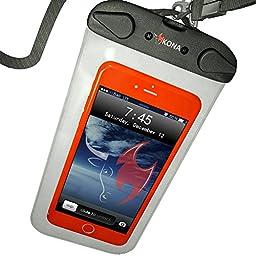 Submariner Waterproof Case by Kona(TM) ~ Universal Waterproof Phone Case/100 ft Depth Dry Bag Fits Apple iPhone Samsung Galaxy LG Nexus Passport Keys