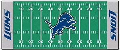 FANMATS NFL Detroit Lions Nylon Face Football Field Runner