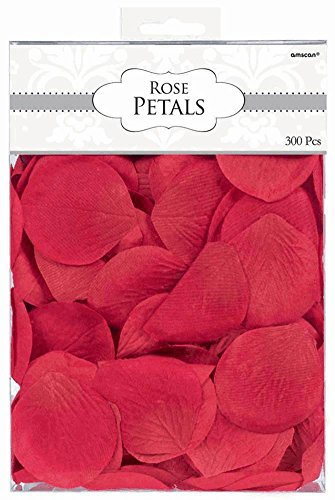 Amscan International Rose Flower Petal Confetti, Red