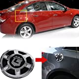 Chrome Fuel Cap Cover for 2008 2009 2010 2011 2012 2013 Chevy Chevrolet Cruze