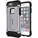 Cubix Impact Hybrid Armor Defender Case For Apple IPhone 6S Plus (Grey)