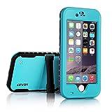 LEVIN iPhone6 Plus 防水ケース アイフォン6 plusケース スタンド付 衝撃吸収 防じん 防雪 (ダークブルー)
