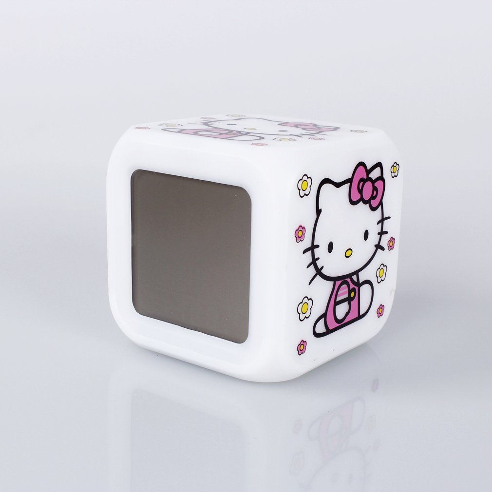 Hello Kitty - 7-farbige LED Multifunktions-Uhr