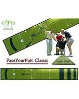 Tapis de Golf entrainement -Tapis de putting- Practice - le Paceyourputt CLASSIC de Peekace nouveau concept breveté 400 x 60cm - 3.0 kg model 2013 - LIVRAISON OFFERTE chez vous en 4 jours !