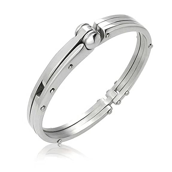 Bling Jewelry 50 Shades of Grey Inspired Fetish Handcuff Steel Bangle Bracelet -- $22.99 + Free Shipping