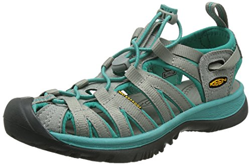 Keen WHISPER 5124-BKGA Donna Outdoor Sandali, Grau (Neutral Gray/Lagoon), 38.5