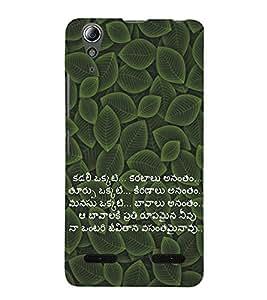 Vizagbeats Telugu Script Quote Love Heart Sea Back Case Cover for Lenovo A6000 Plus