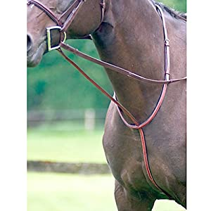 Exselle Elite Fancy Square Raised Standing Martingale, Cob, Dark Havana