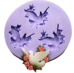 Pigeon Silicone Resin Clay Molds Jewelry Mold Miniature Mold Candy Mold