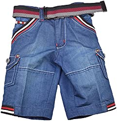 Nil and Grease Baby Boys' Relaxed Shorts (HF39, Blue)