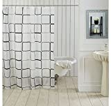 Ocean Dew Brick Shower Curtain - @home By Nilkamal, White