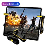 PUBG Mobile Controller for Tablet, Auto High Frequency Click Mobile Game Controllers Trigger for PUBG/Fortnite/Rules of Survival Gaming Grip and Gaming Joysticks for Android iOS Tablet PC (Color: TAB01(For Tablet))