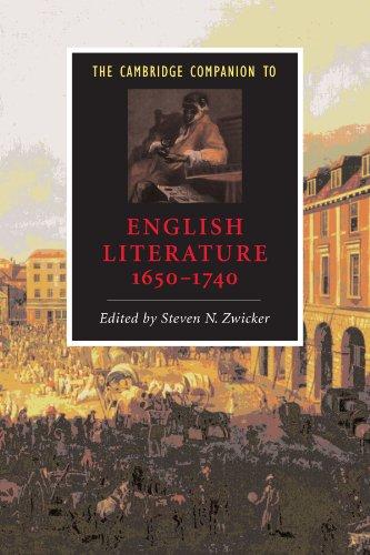 The Cambridge Companion to English Literature, 1650-1740 (Cambridge Companions to Literature)