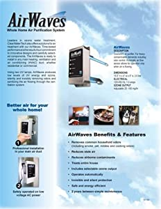 Duct Mounted Ozone Generator Air Purifier System For Total House Fits into Any HVAC.Suitable 3000 sq.ft Home, Offices, Restaurants, Pubs, Clinics, Veterinary, Doctors Surgeries, Dentists for Germ Free Air, Odour Removal, Bacteria, Virus EColi, Mold, Mildew