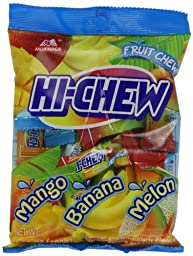 Morinaga Hi Chew Candy, Tropical Mix, 3.53 Ounce (Pack of 6)