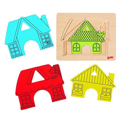 Goki 57528 - Schichtenpuzzle - Haus