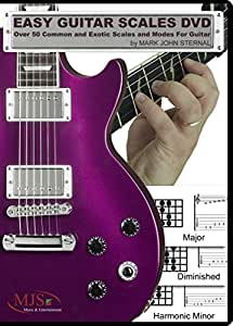 EASY GUITAR SCALES DVD Over 50 Common and Exotic Scales and Modes For Guitar