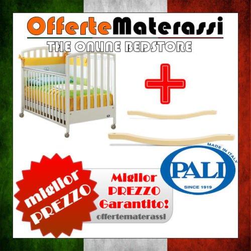 Lettino Ciak Pali bianco + kit dondolo per lettino infanzia bimbo (bianco)