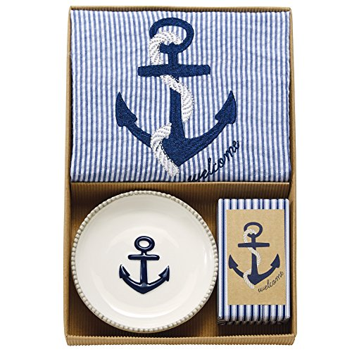 Mud Pie Anchor Towel & Soap Set