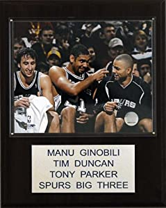 NBA Ginobili-Duncan-Parker San Antonio Spurs Player Plaque by C&I Collectables