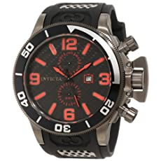 Invicta Men's 10053 Corduba Black Carbon Fiber Dial Watch