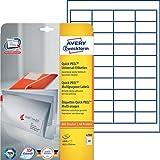 Avery Zweckform 4780 Universal-Etiketten 25 Blatt weiß