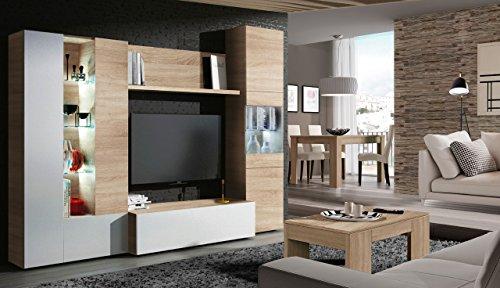 mueble-comedor-dupen-acabado-en-blanco-brillo-y-roble-canadian-medida-260-cm-de-ancho