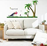 UberLyfe Proud Peacock Wall Sticker (Wall Covering Area: 65cm x 120cm)