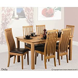 Delia Dining Table Set With Six Chairs Kitchen Home